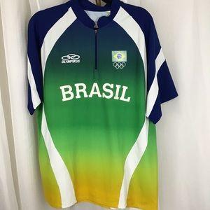 Brasil Soccer Jersey w Olympic rings L